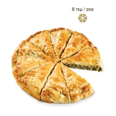 ROUND COUNTRY PIE WITH SPINACH-MIZITHRA-FETA CHEESE 4x2,2kg