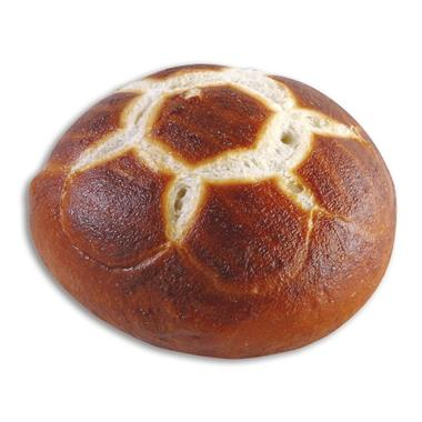 PRETZEL FOOTBALL ROLL, FULLY BAKED 60x70g.(RTE)