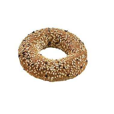 ROUND MINI KOULOURI THESSALONIKI WHOLEGRAIN WITH BLACK SESAME 50g. 1X4kg.