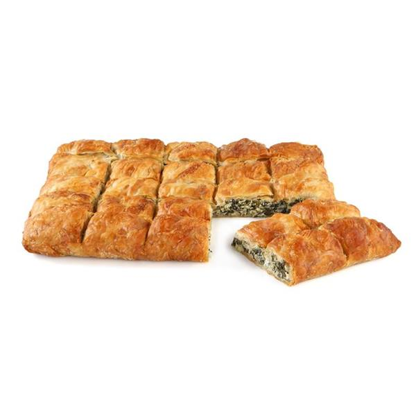 SQUARE COUNTRY PIE WITH SPINACH-MIZITHRA-FETA CHEESE 5x2kg. (35cmX29cm)